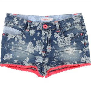 Billieblush  - FLORAL PRINT DENIM SHORT - Clothing