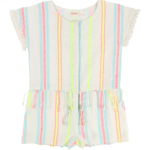 Billieblush  - PARTY STRIPE YELLOW ALL IN ONE - Clothing