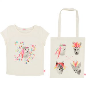 Billieblush  - PARTY IVORY T-SHIRT+BAG - Clothing