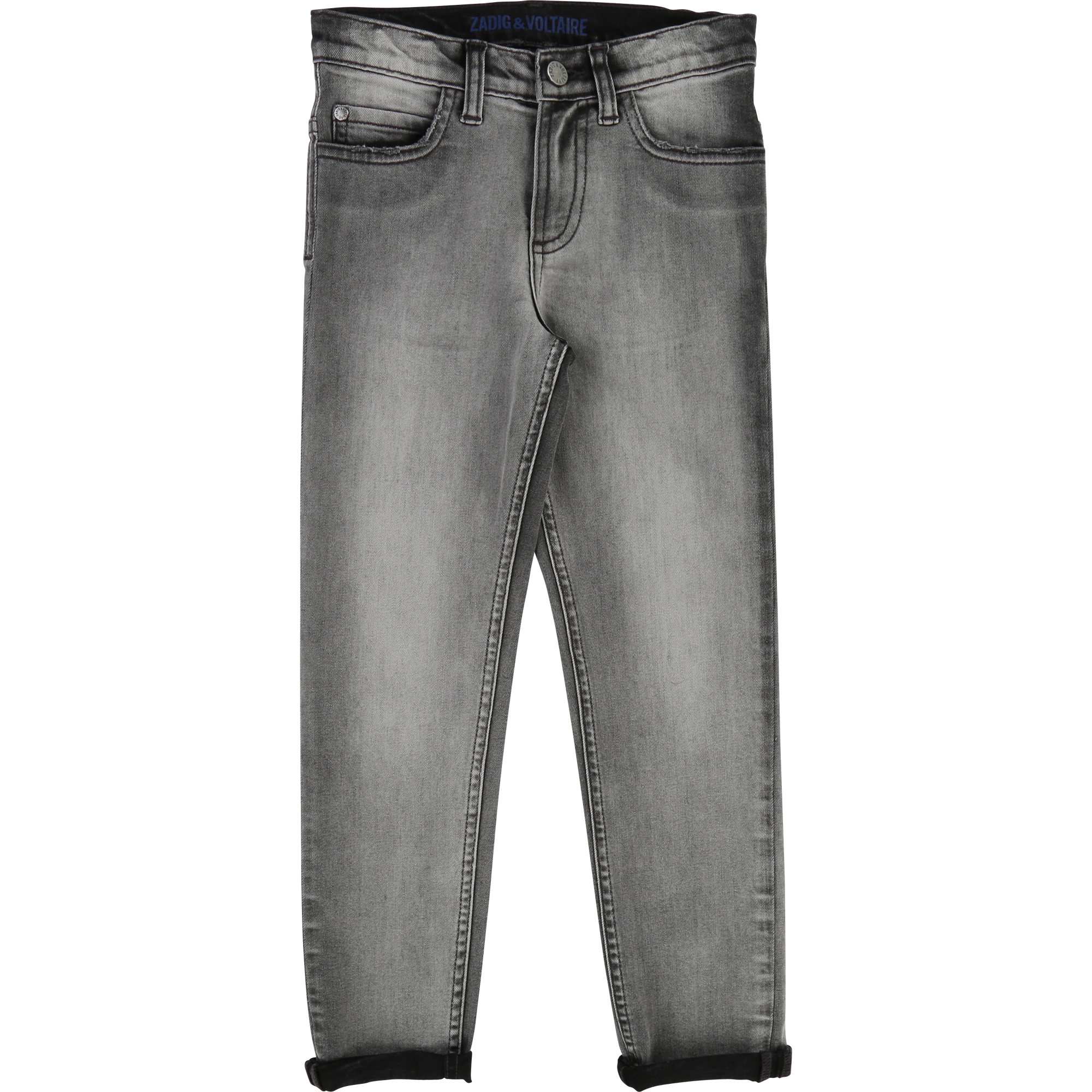 Zadig & Voltaire  - GYPSY ROCK GREY DENIM TROUSERS - Clothing