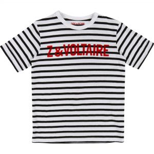 Zadig & Voltaire  - BLACK & WHITE SHORT SLEEVES T-SHIRT - Clothing
