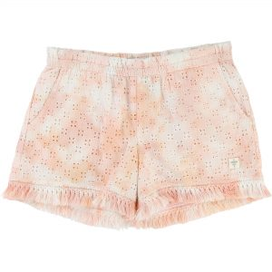 Carrément Beau  - PINK CORAL TIE DYE FRINGED SHORT - Clothing