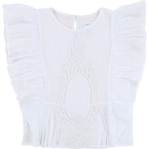 Carrément Beau  - EMBROIDERED WHITE BLOUSE - Clothing