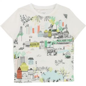 Carrément Beau  - WHITE ILLUSTRATED T-SHIRT - Clothing