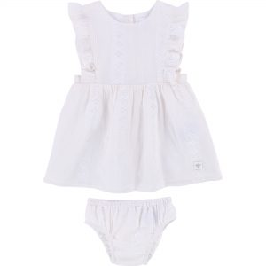 Carrément Beau  - OFF WHITE DRESS AND BLOOMER SET - Clothing