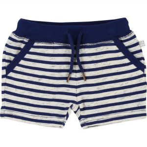 Carrément Beau  - OFF WHITE & NAVY STRIPE SHORT - Clothing