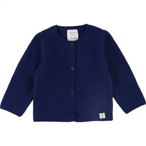 Carrément Beau  - BLUE KNITTED CARDIGAN - Clothing