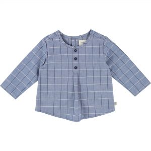 Carrément Beau  - BLUE CHECKED BLOUSE - Clothing