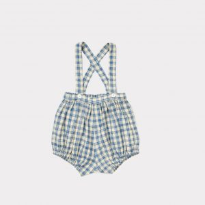 Caramel  - BULL BABY ROMPER BLUE CHECK - Clothing