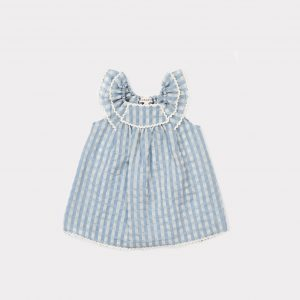 Caramel  - PRESPA BABY DRESS PALE BLUE - Clothing
