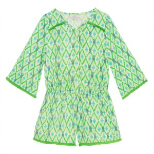 Wild & Gorgeous  - Beau Playsuit Green - Clothing
