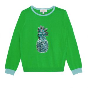 Wild & Gorgeous  - Pineapple Jumper Green - Clothing