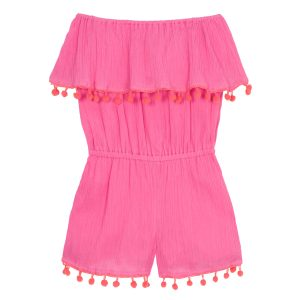 Wild & Gorgeous  - Playtime Playsuit Hot Pink - Clothing