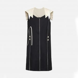 Owa Yurika  - UMI DRESS NAVY - Clothing