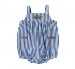Bonheur du Jour  - PATTI EMBROIDERY OVERALL STRIPE - Clothing