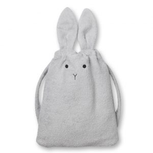 Liewood  - THOR TOWEL BACK PACK RABBIT DUMBO GREY - Homeware