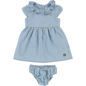 Carrément Beau  - BABY DENIM DRESS AND BLOOMER SET - Clothing