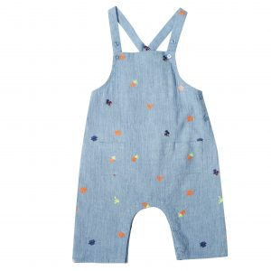 Bonheur du Jour  - MINI EMBROIDERY OVERALL BLUE - Clothing
