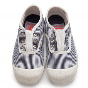 Bensimon  - Kids Elly Tennis Pinstripes Navy - Footwear