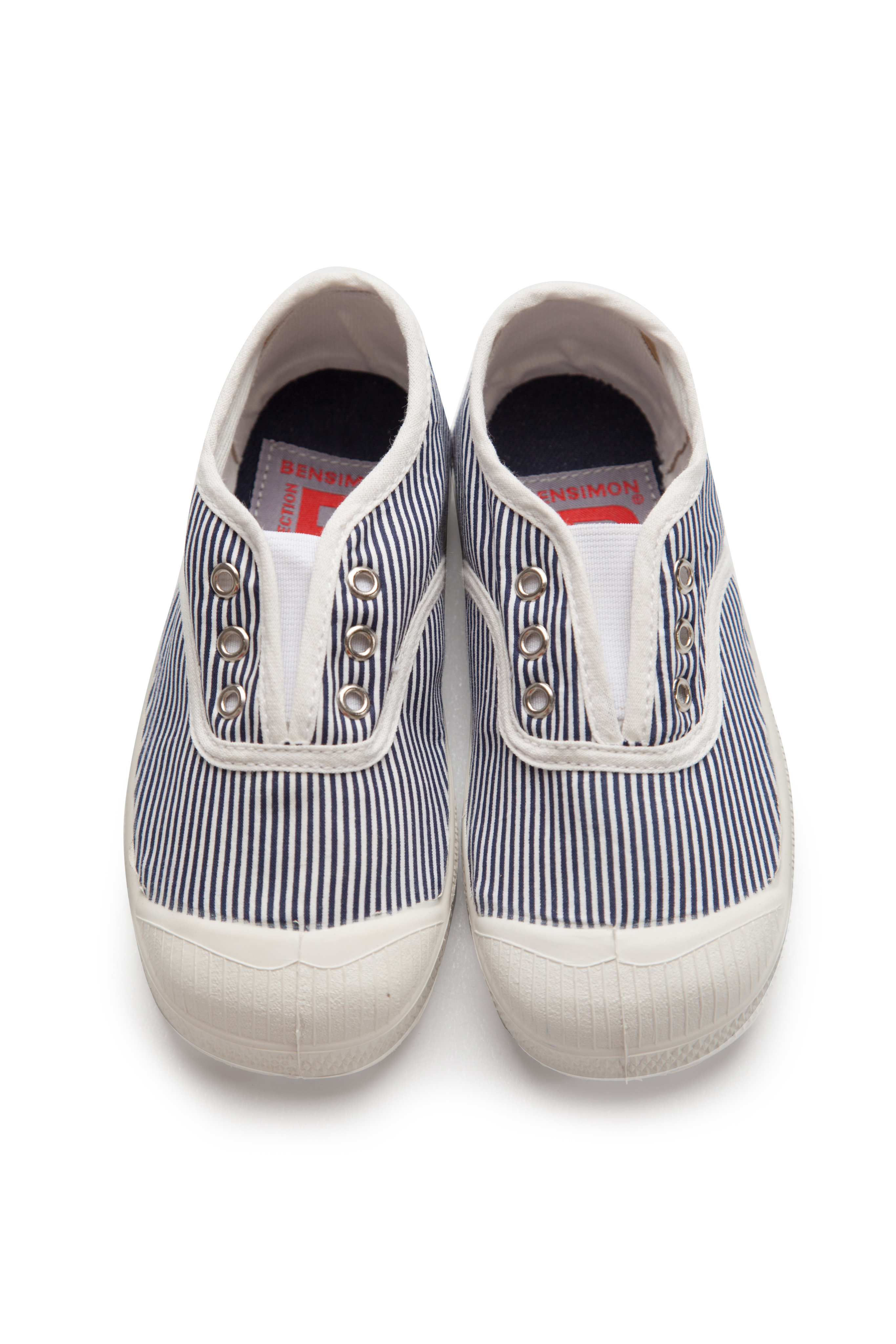6126f65b534c10 Bensimon Kids Elly Tennis Pinstripes Navy - Littlecosmo