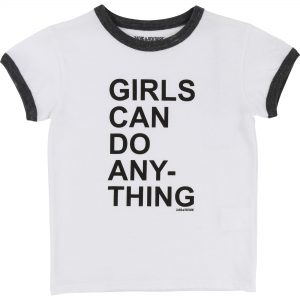 Zadig & Voltaire  - GIRLS CAN DO ANYTHING WHITE SHORT SLEEVES T-SHIRT - Clothing