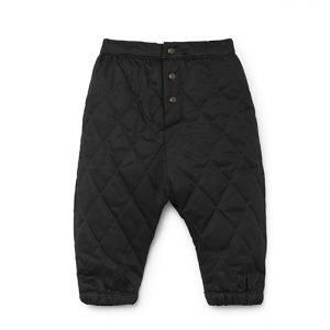 Little Creative Factory  - BABY QUILTED PANTS BLACK - Clothing