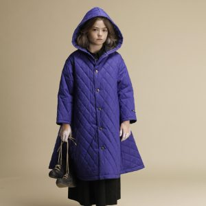 Little Creative Factory  - HOODED QUILTED CAPE BLUE - Clothing