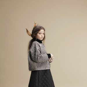 Little Creative Factory  - CHECK QUILTED SWEATSHIRT - Clothing