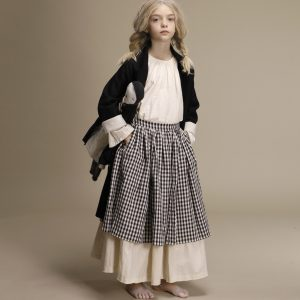 Little Creative Factory  - CHECKED LAYERED SKIRT - Clothing