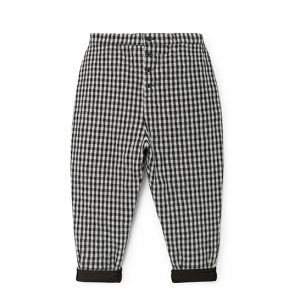 Little Creative Factory  - CHECKED QUILTED PANTS - Clothing