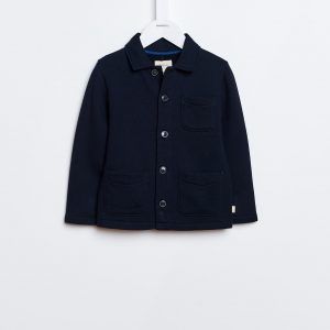 Bellerose  - BOWI BUTTON-DOWN SWEATSHIRT NAVY - Clothing