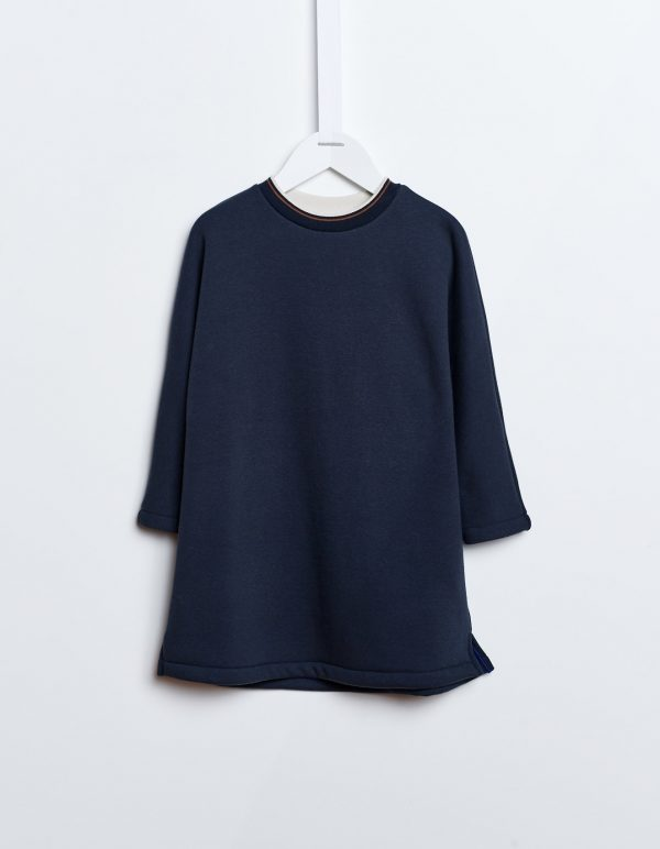 Bellerose  - ASTINA LONG SWEATSHIRT NAVY - Clothing