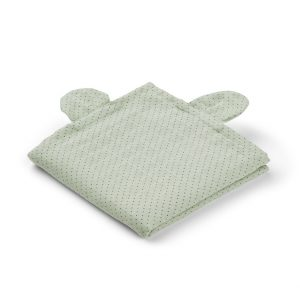 Liewood  - HANNAH MUSLIN CLOTH Mr. BEAR LITTLE DOT DUSTY MINT (2 pack) - Homeware