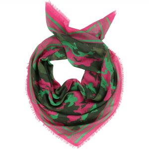 Zadig & Voltaire  - GIRLS CAN DO ANYTHING KHAKI PINK SCARF - Accessories