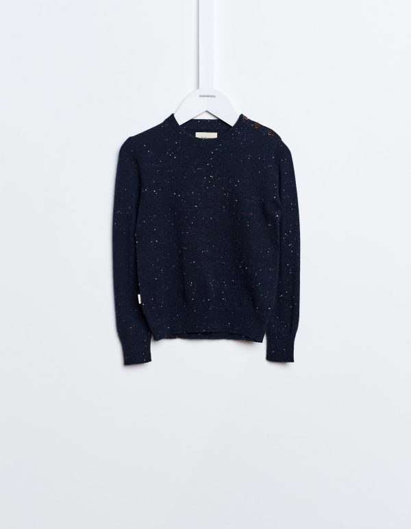 Bellerose  - GUUS SWEATER NAVY - Clothing