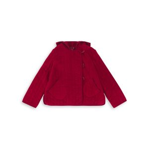 Bonton  - GOURMAND FAUX FUR LINED JACKET RUBY RED - Clothing