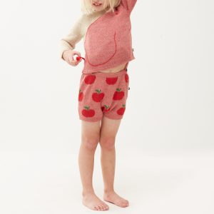 Oeuf NYC  - APPLE SUSPENDDER SHORTS ROSE PINK - Clothing