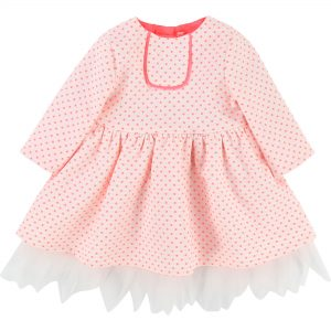 Billieblush  - POLKA DOT DRESS NEON PINK - Clothing