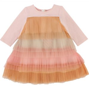 Billieblush  - PINK GRADATION MESH DRESS - Clothing