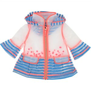 Billieblush  - BABY TRANSPARENT RAINCOAT BLUE STRIPES - Clothing