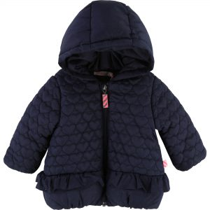 Billieblush  - BABY HEART HOODED PUFFER JACKET - Clothing