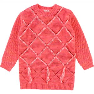 Billieblush  - KNITTED DRESS HOT PINK - Clothing