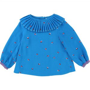 Billieblush  - FLOWER BLOUSE BLUE - Clothing