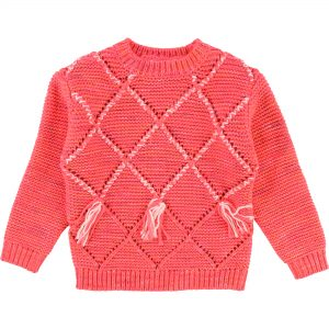 Billieblush  - KNITTED SWEATER HOT PINK - Clothing