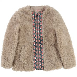Billieblush  - FAUX FUR COAT TAUPE - Clothing
