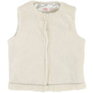 Billieblush  - FAUX FUR VEST IVORY - Clothing
