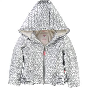 Billieblush  - QUILTED HEART PARKA SILVER - Clothing