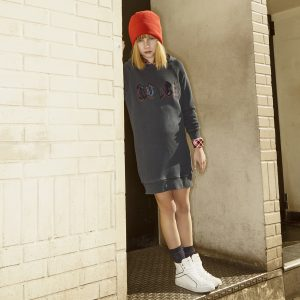 Zadig & Voltaire  - ROCK HOODED DRESS NAVY - Clothing