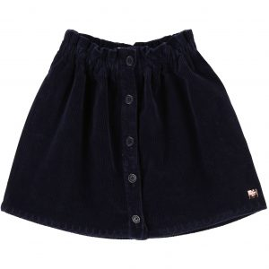 Carrément Beau  - BUTTON DOWN CORDUROY SKIRT NAVY - Clothing
