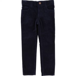 Carrément Beau  - CORDUROY TROUSERS NAVY - Clothing